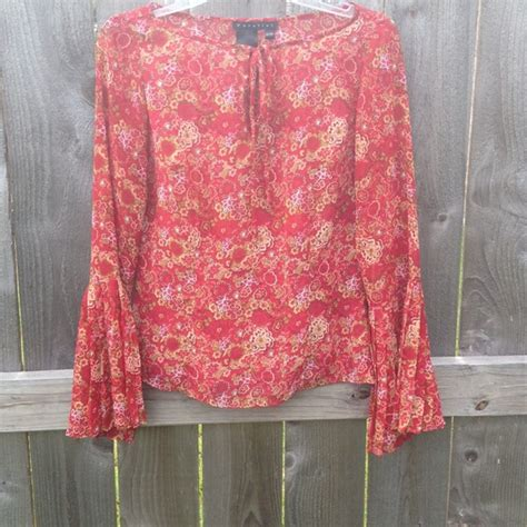 Floral Flare Sleeve Top Banana Republic Blouse Atasan Wanita parallel last chance floral blouse with flare