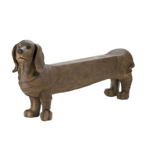 dog bench dachshund weiner dog bench yard garden porch patio decor