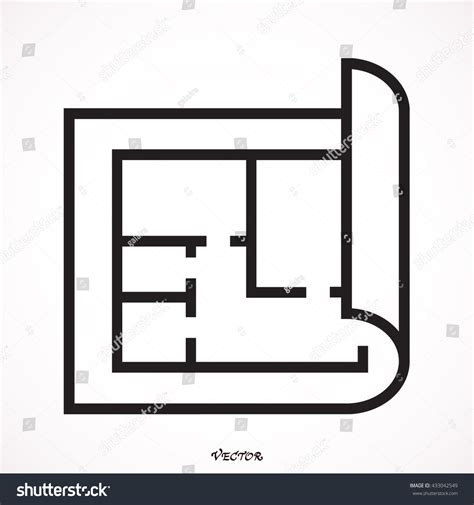 icon floor plan floor plan icon vector 433042549 shutterstock