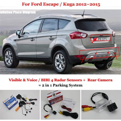security system 2012 ford escape user handbook buy ford escape kuga 2012 2015 car parking sensors rear view back camera 2 1 visual