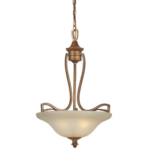 Rustic Glass Pendant Lights Shop Shandy 19 5 In Rustic Single Tinted Glass Pendant At Lowes