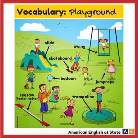 theme park definition dictionary playground english vocabulary pinterest playgrounds