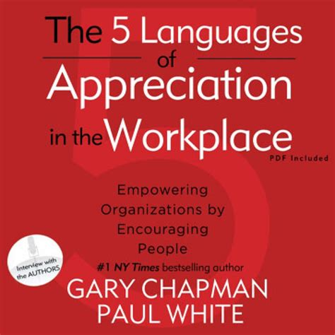 The 5 Languages Of Appreciation In The Workplace Mba Inventory by The Five Languages Of Appreciation In The Workplace By