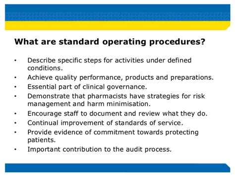 pharmacy standard operating procedures template improving safety and quality by integrating paper based