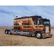 Custom Cabover Kenworth This Gold And Brown With A