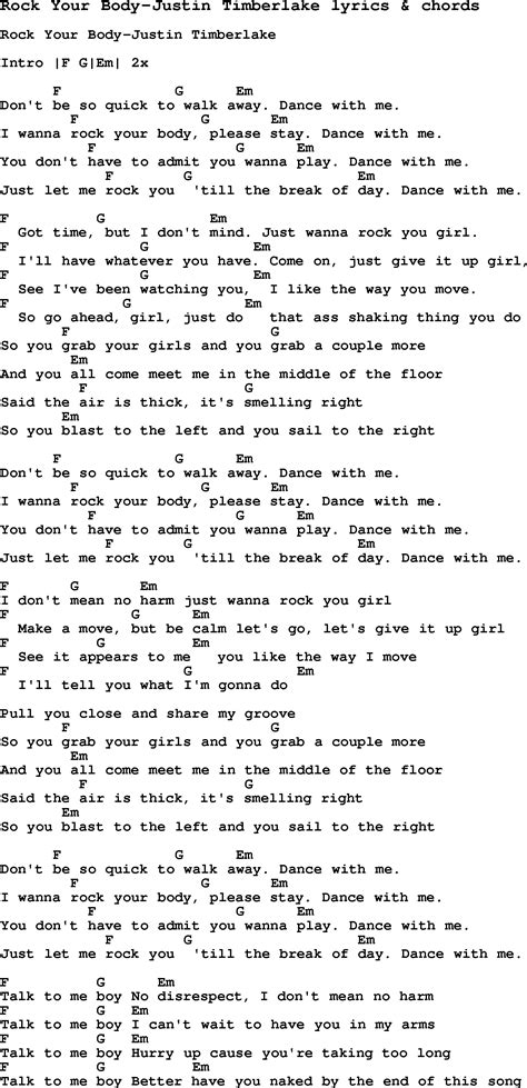 lyrics rock song lyrics for rock your justin timberlake with