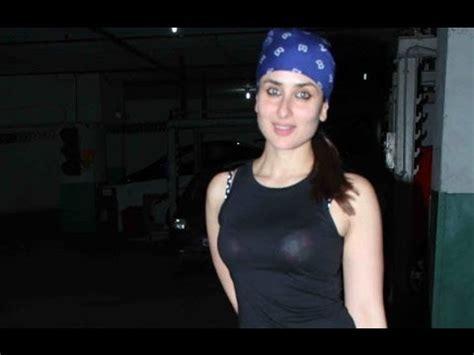 film star gori oops kareena kapoor arrives in trasparent tshirt at gori