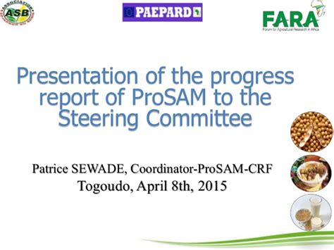 Progress Report Of Prosam To The Steering Committee Steering Committee Presentation Exle