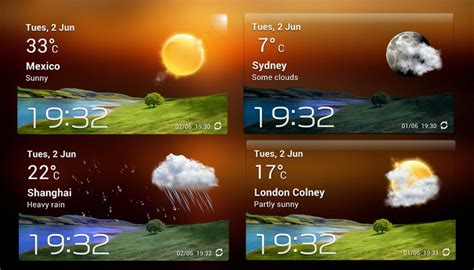accuweather widgets for android accuweather s widget v2 xwidget for android