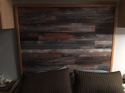 Bed Room Headboard Made With Laminate Flooring   Laminate