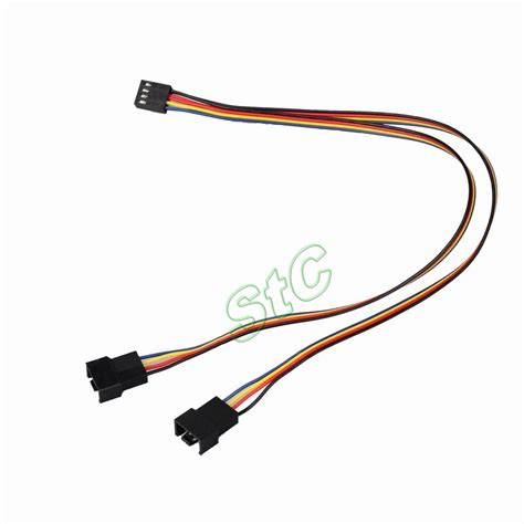 pc fan y adapter aliexpress com buy 5pcs gdt pc 4pin to 2x4pin fan cable
