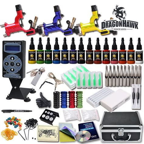 tattoo kit professional professional complete tattoo kit 3 top rotary machine gun