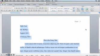 How To Make A Paper Mla Format - mla formatting microsoft word 2011 mac os x