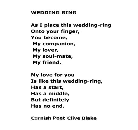 wedding poetry wedding ring wbcp wedding poem wedding poetry by