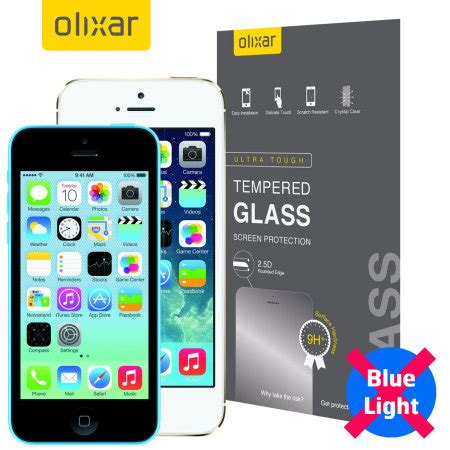 Iphone 5 5s Tempered Glass Screen Protector Anti Gores Kaca olixar iphone 5s 5 5c anti blue light tempered glass