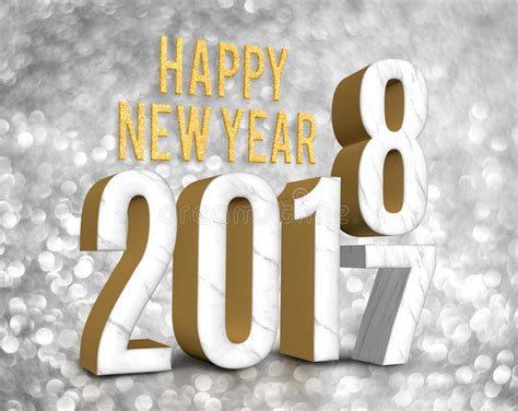 new year date changes happy new year 2018 3d rendering change year from 2017