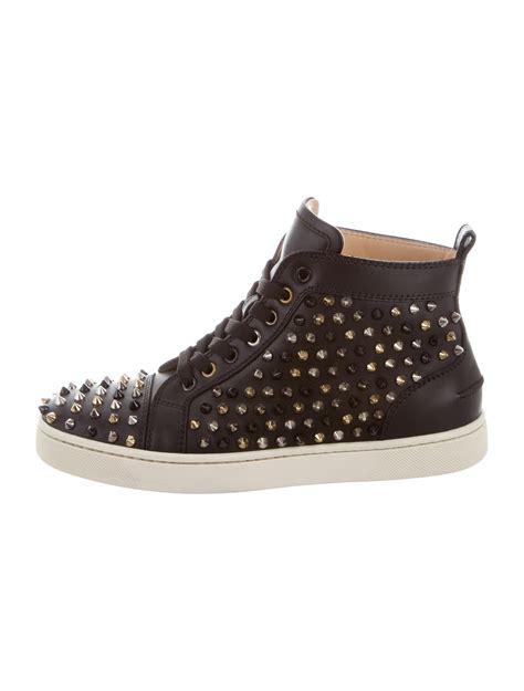 Christian Louboutin Spike Sneakers by Christian Louboutin Louis Spiked Sneakers Shoes Cht76611 The Realreal