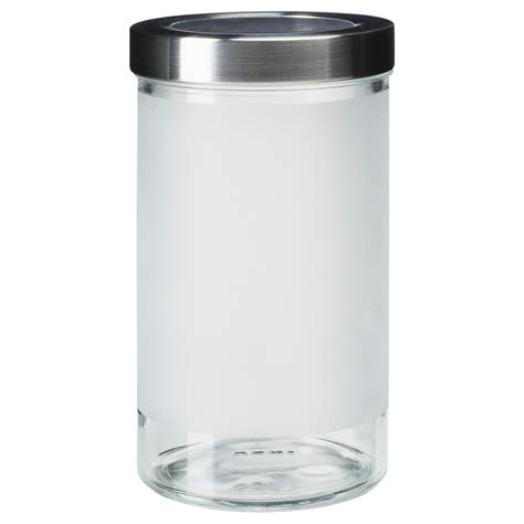 Kitchen Canisters Online droppar jar with lid frosted glass stainless steel 0 9 l
