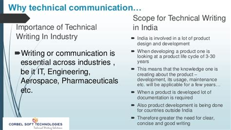 technical communication why technical communication