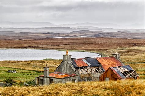 Cottage Isle Of Lewis by Abandoned Roofed Cottage
