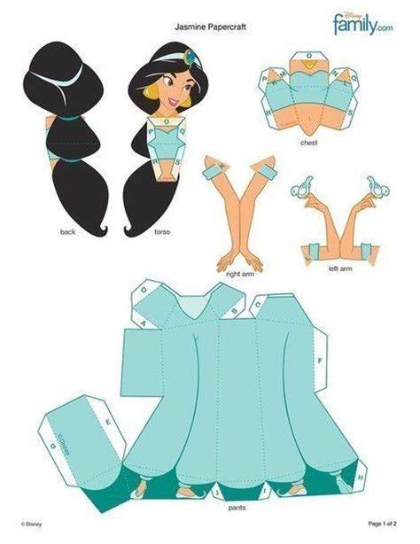 Disney Papercraft - paper dolls disney diy papercraft all