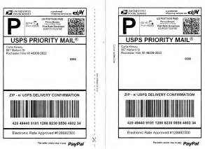 usps shipping label template template design