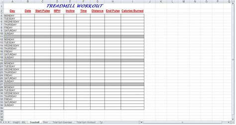 workout schedule templates calendar template 2016