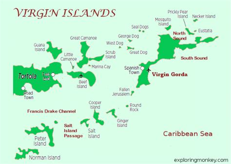map of st islands exploring monkey vacation airports hotels and shopping