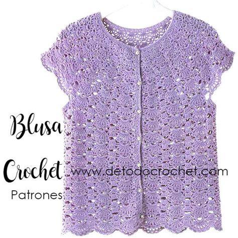 blusa rosada tejida con motivos a crochet paso a paso tejidos milagros ena blusa crochet de delicado dise 241 o patrones todo crochet