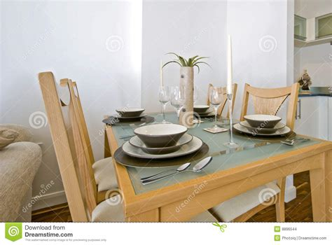dining table setup dining table with setup stock photo image of four floor