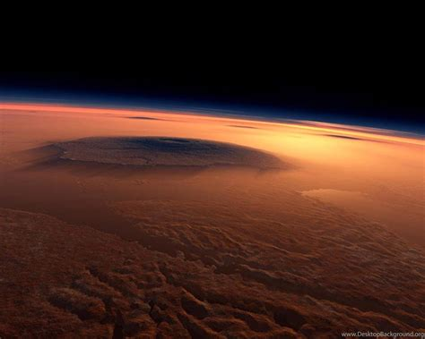 mars olympus mons outer space planets  widescreen desktop background