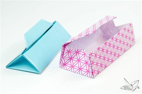 Origami Triangular Box - triangular origami box tutorial gift box paper kawaii