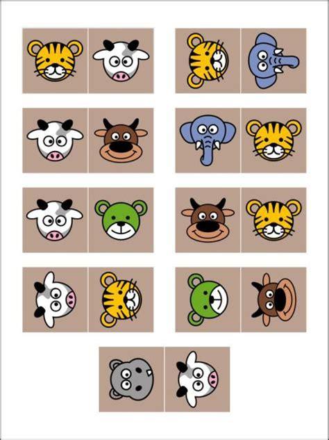 Domino Puzzle Kayu domino binatang mainan kayu