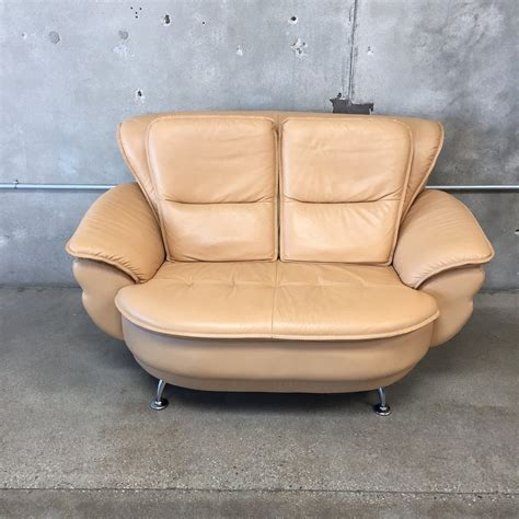 swivel loveseat sofa mid century saddle color swivel sofa loveseat and chair