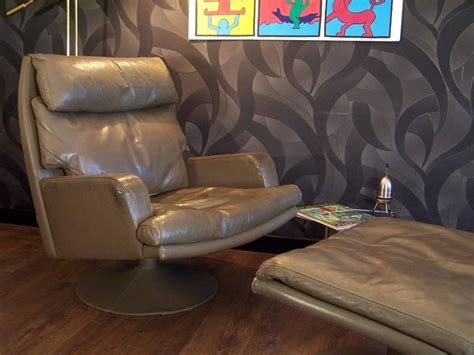 large leather chair and ottoman large vintage leather swivel chair and ottoman for sale at