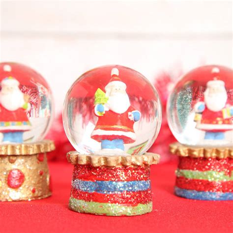 christmas mini glitter santa snow globe dome by red berry