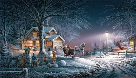 images of christmas winter wonderland terry redlin 2007 annual christmas print limited edition
