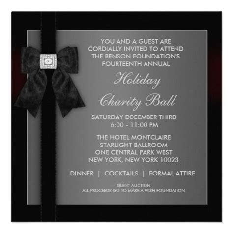 Gala Invitation Card Template by Formal Wedding Invitation Templates Corporate Black Tie