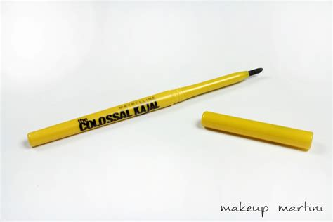 Maybelline Colossal Kajal Water Based Pen Black Bold Smudge Resistan maybelline colossal kajal review swatches eotd makeupmartini