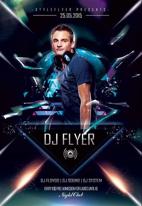 dj flyers templates the electro dj promotion free flyer template