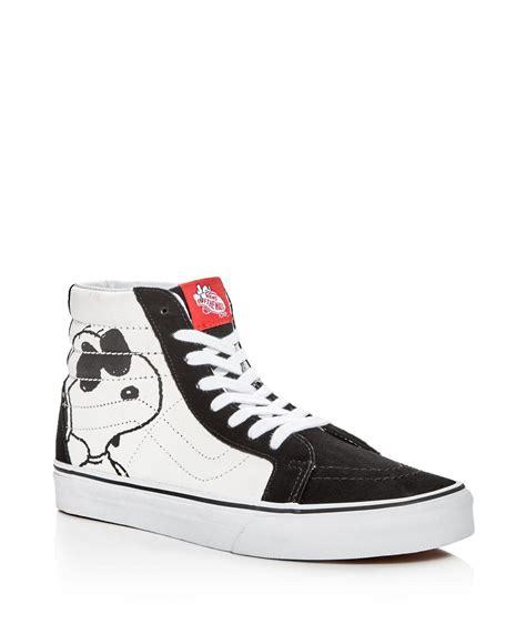 lyst vans sk8 hi peanuts high top sneakers in black for