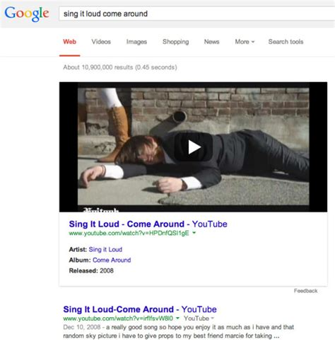 google youtube google showing large video embeds in some search results