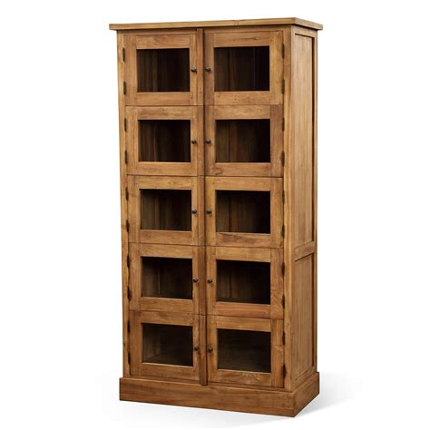 furniture small wood dvd storage with glass doors and