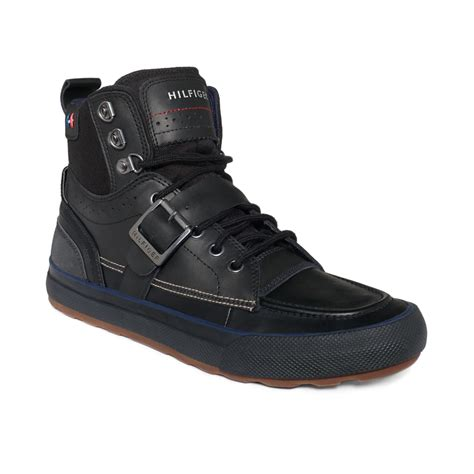 hilfiger mens boots hilfiger captain boots in black for lyst