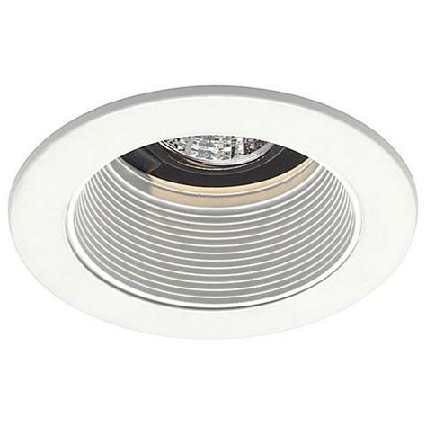 Low Voltage Ceiling Lighting Juno 4 Quot Low Voltage White Baffle Recessed Light Trim 19190 Ls Plus