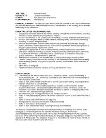 20 security guard resume sle and resume template