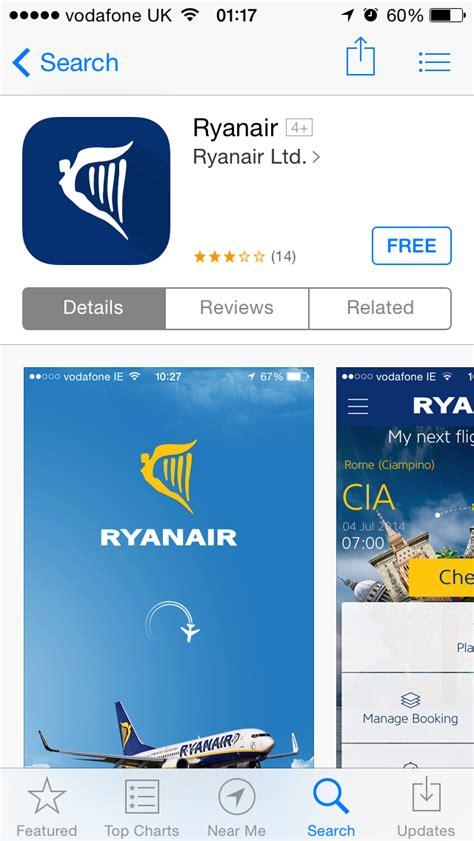 ryanair mobile ryanair updates its mobile app adds mobile boarding pass