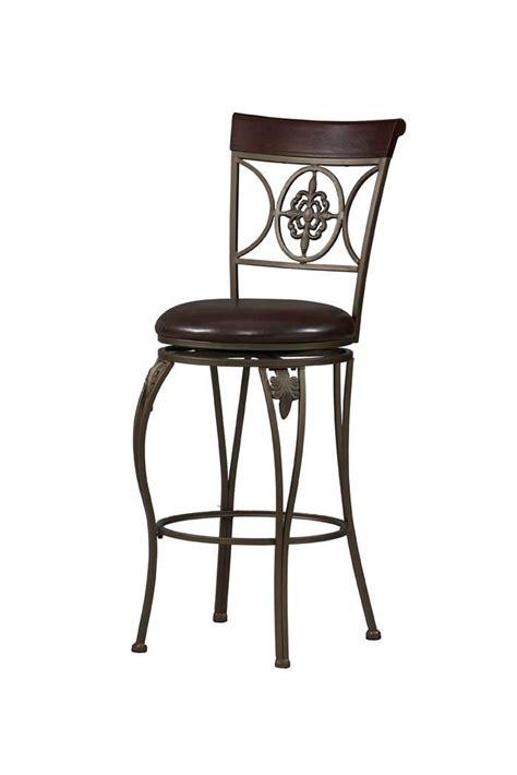 K D Furniture Bar Stools by Fleur De Lis Antique Gold Swivel Seat Bar Stool