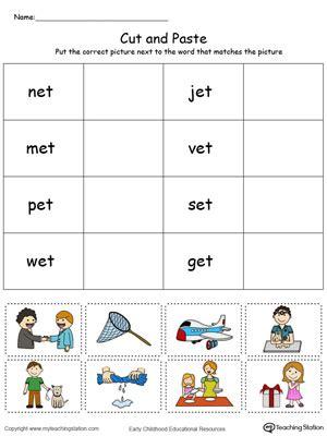 et pattern words sorting worksheet kindergarten sorting worksheets and