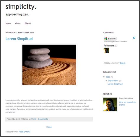 diy super simple blogger template
